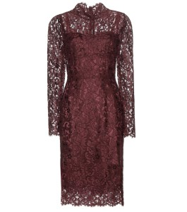 Dolce and Gabbana long sleeved violet Floral lace dress 3495 dollars