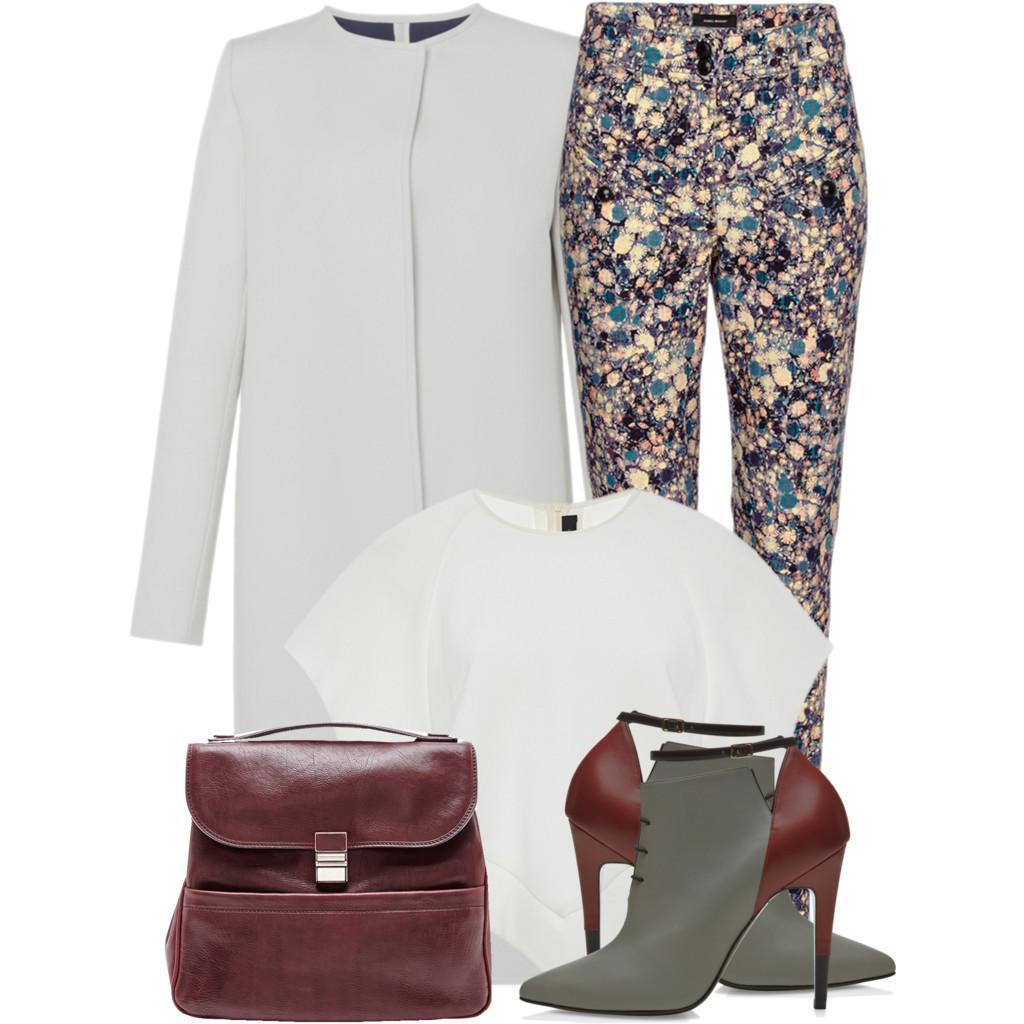 Big designer sale - Ellery Ivory Milieu Crop Raglan Tee Isabel Marant High Waisted Nella Printed Jeans