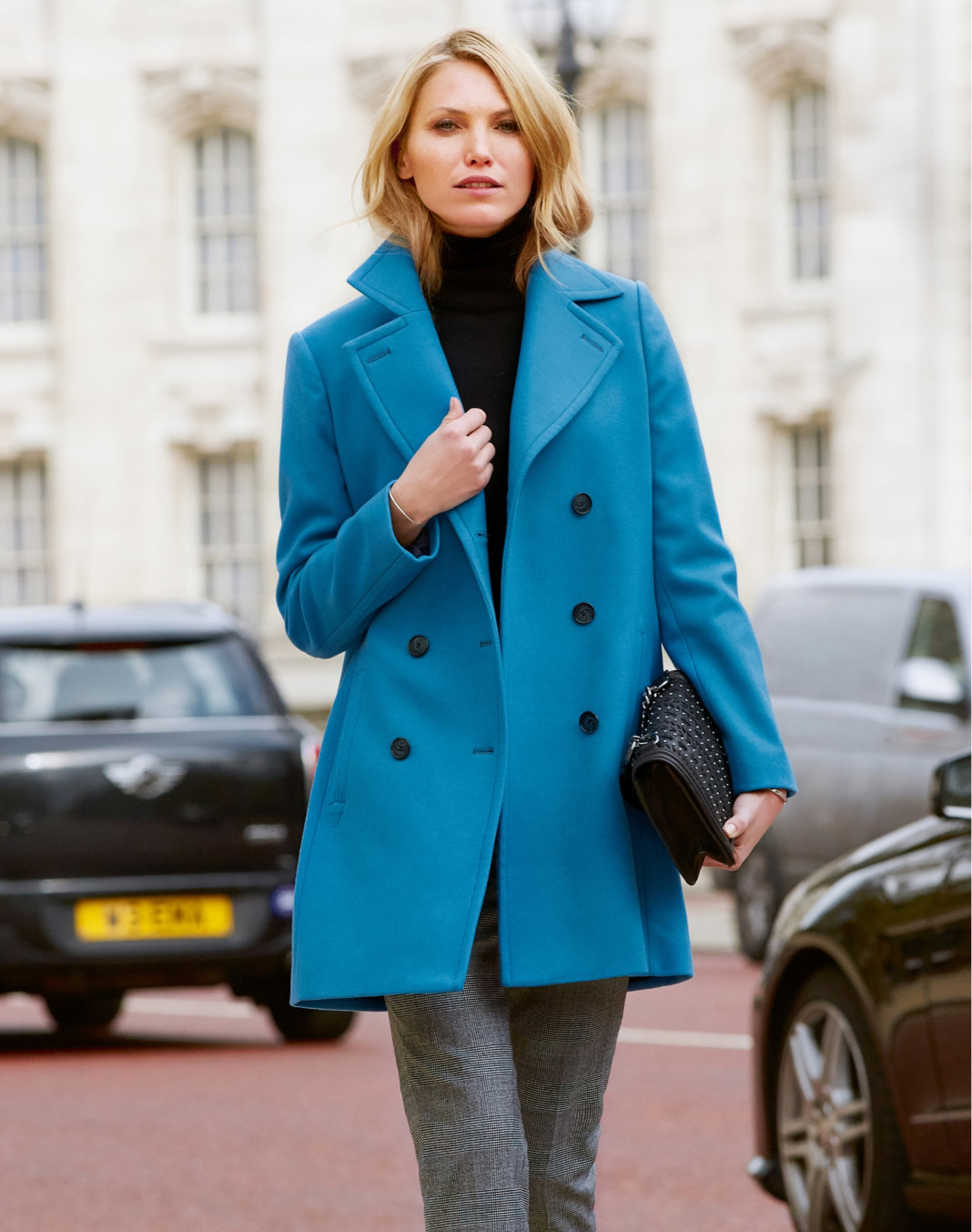 Pure Collection blue cashmere blend peacoat