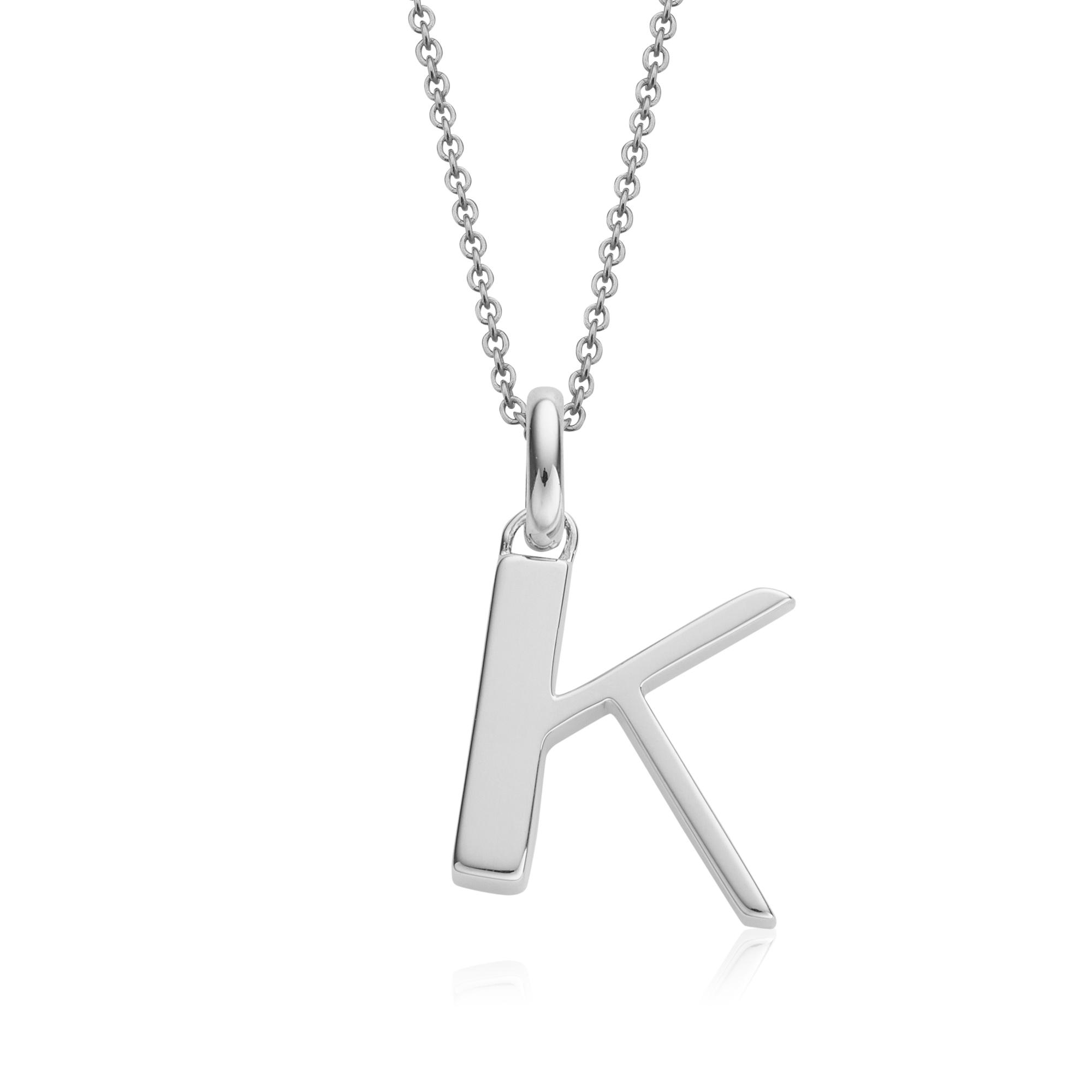 Monica Vinader Alphabet pendant 'k'