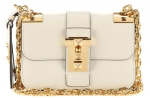 Valentino Small B-Rockstud cream leather shoulder bag 2895 dollars