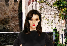 photoshop composite rendering of model in VIctoria Beckham dress