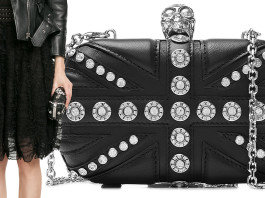 Alexander McQueen Embellished Leather Box Clutch ftim