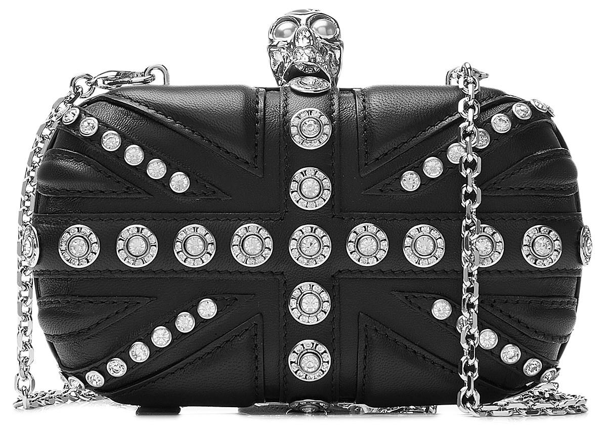 Alexander McQueen clutch - Alexander McQueen Embellished Leather Box Clutch
