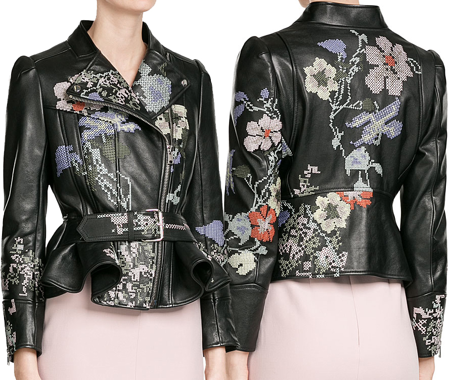 Leather jacket embroidery