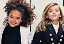 Balmain kids campaign ad photo girls modeling