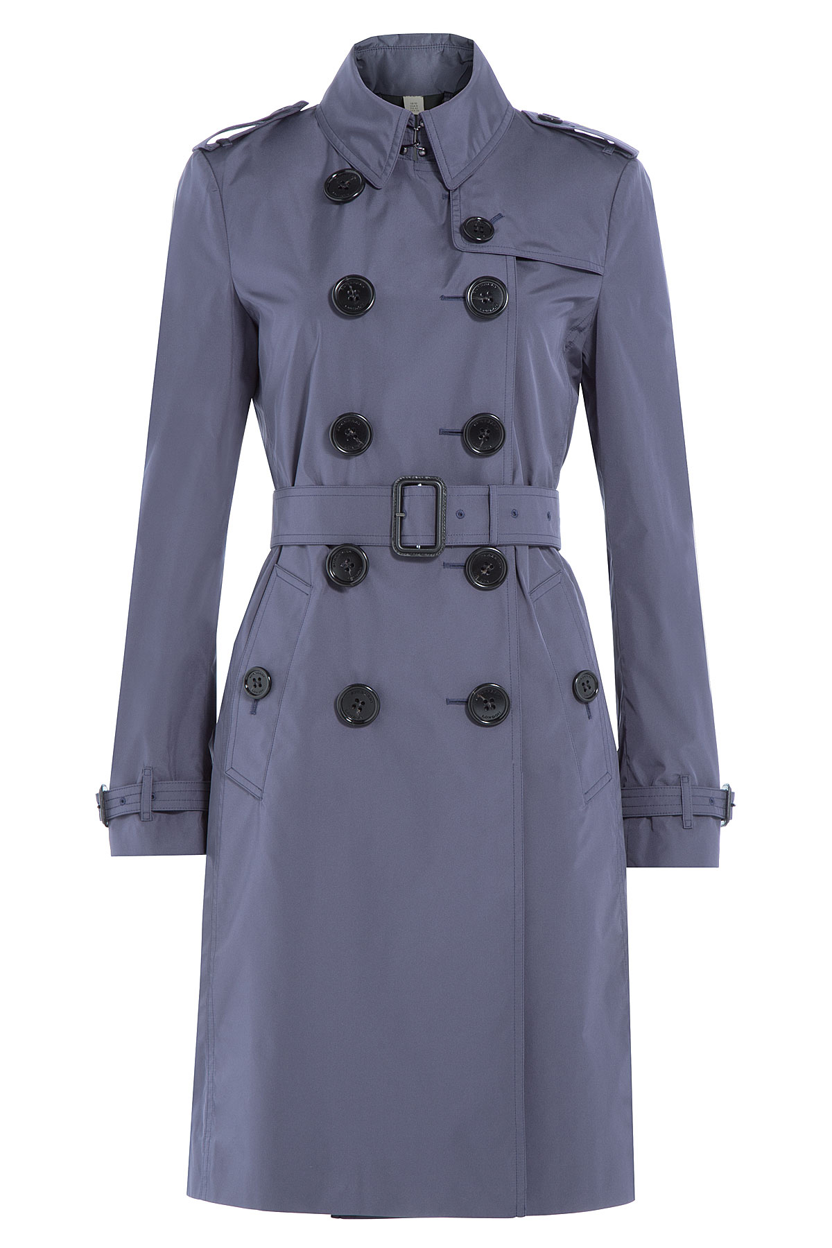 Blue Burberry trench coat - indigo slate charcoal double breasted