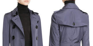 Burberry blue trench coat indigo blue slate charcoal double breasted trench coat
