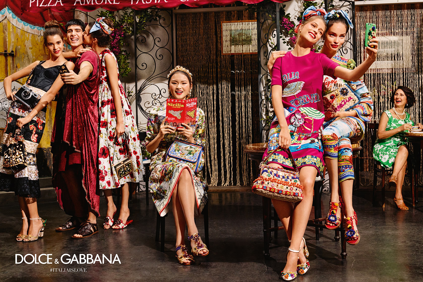 Dolce and Gabbana Summer 2016 women advertising campaign