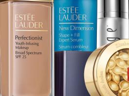 Macys purchase Elizabeth Arden ceramide complex Estee Lauder perfectionist makeup