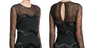 Roberto Cavalli dress short black embellished cocktail dress