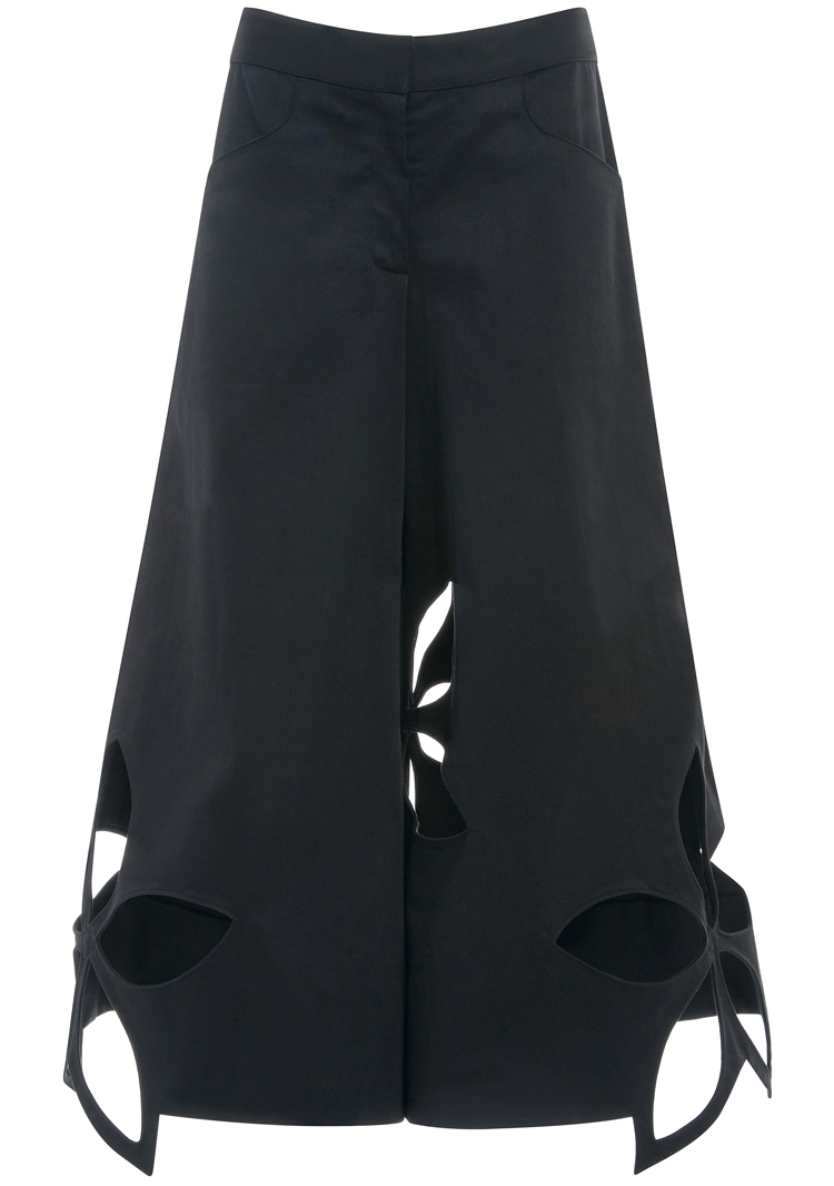 Rosie Assoulin Cotton Twill Flower Cut Out Pants