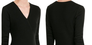 Salvatore Ferragamo dress black ribbed sweater dress