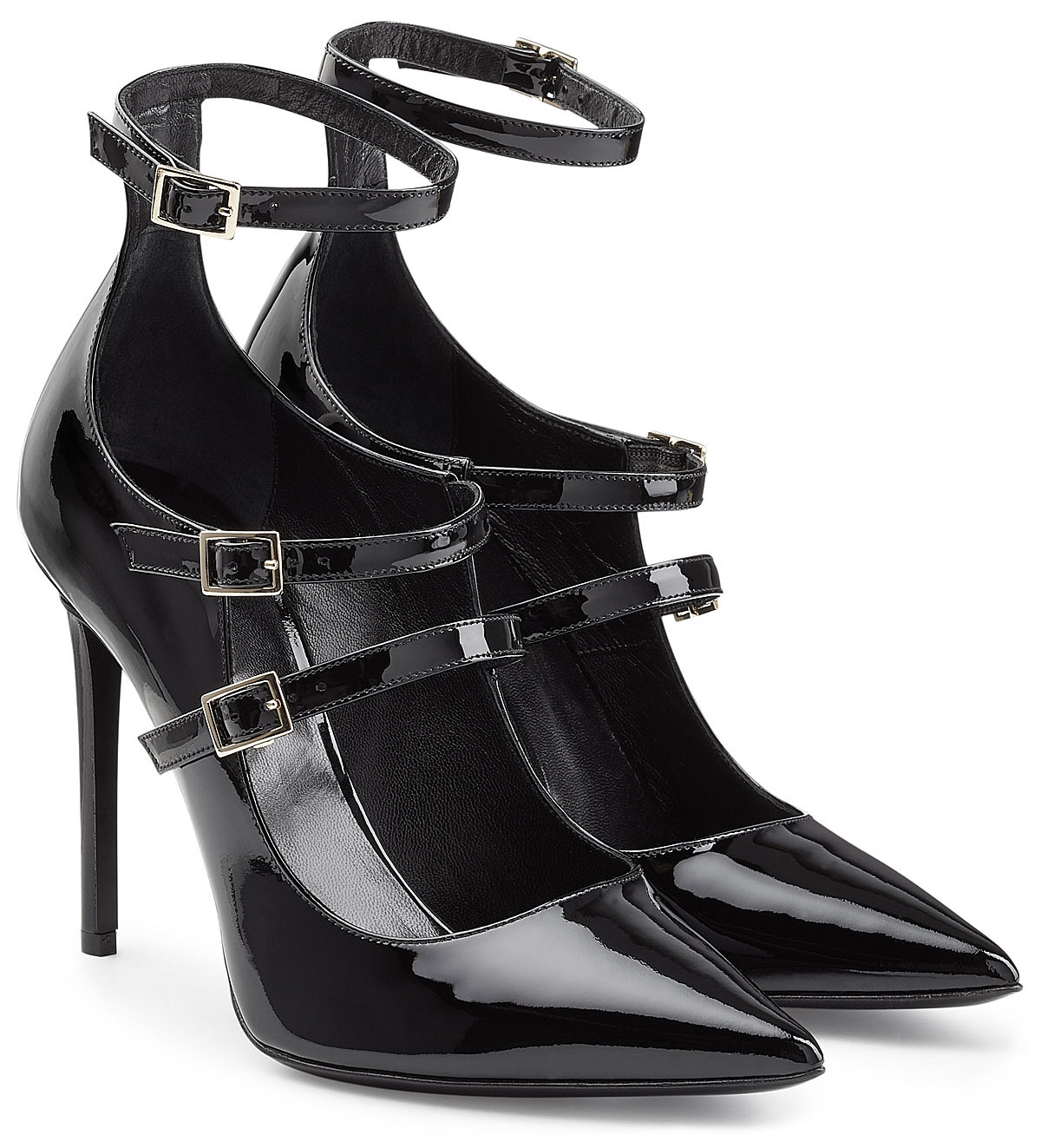Tamara Mellon black patent leather pumps