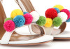 Aquazzura Pon Pon 105 raffia and leather sandals cr
