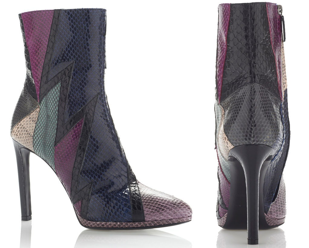 Roberto Cavalli Water snake Scarpa Ankle Boot