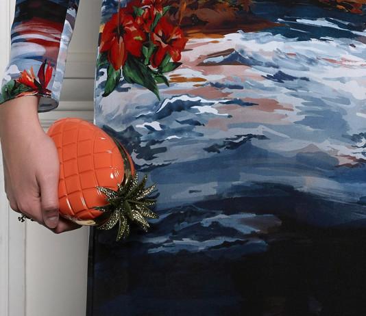 Valentino pineapple box clutch mytheresa