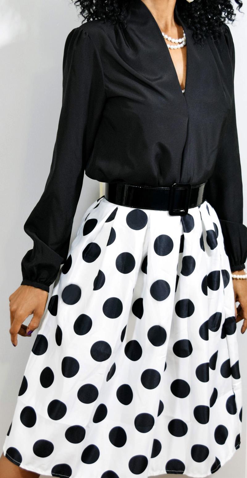 Black And White Dot Blouse 56
