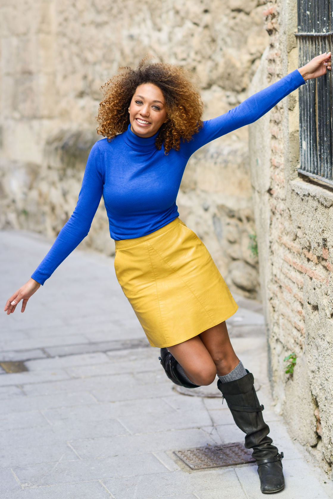 blue top yellow skirt my fashion wants