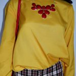 Avon Fashions Yellow long sleeved silk blouse 4