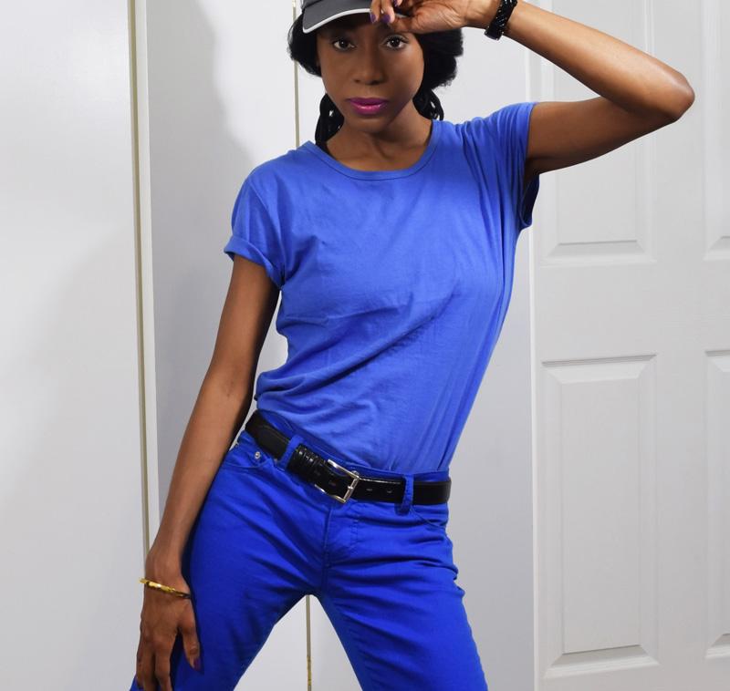 DAWGS blue womens Basic Crew Neck T-Shirt