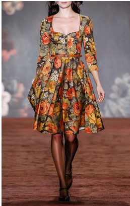 Lena Hoschek dresses - Teatime Autumn Rose Dress