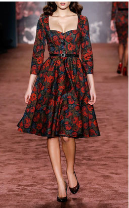 Lena Hoschek dresses - Teatime Winter Rose Dress $670
