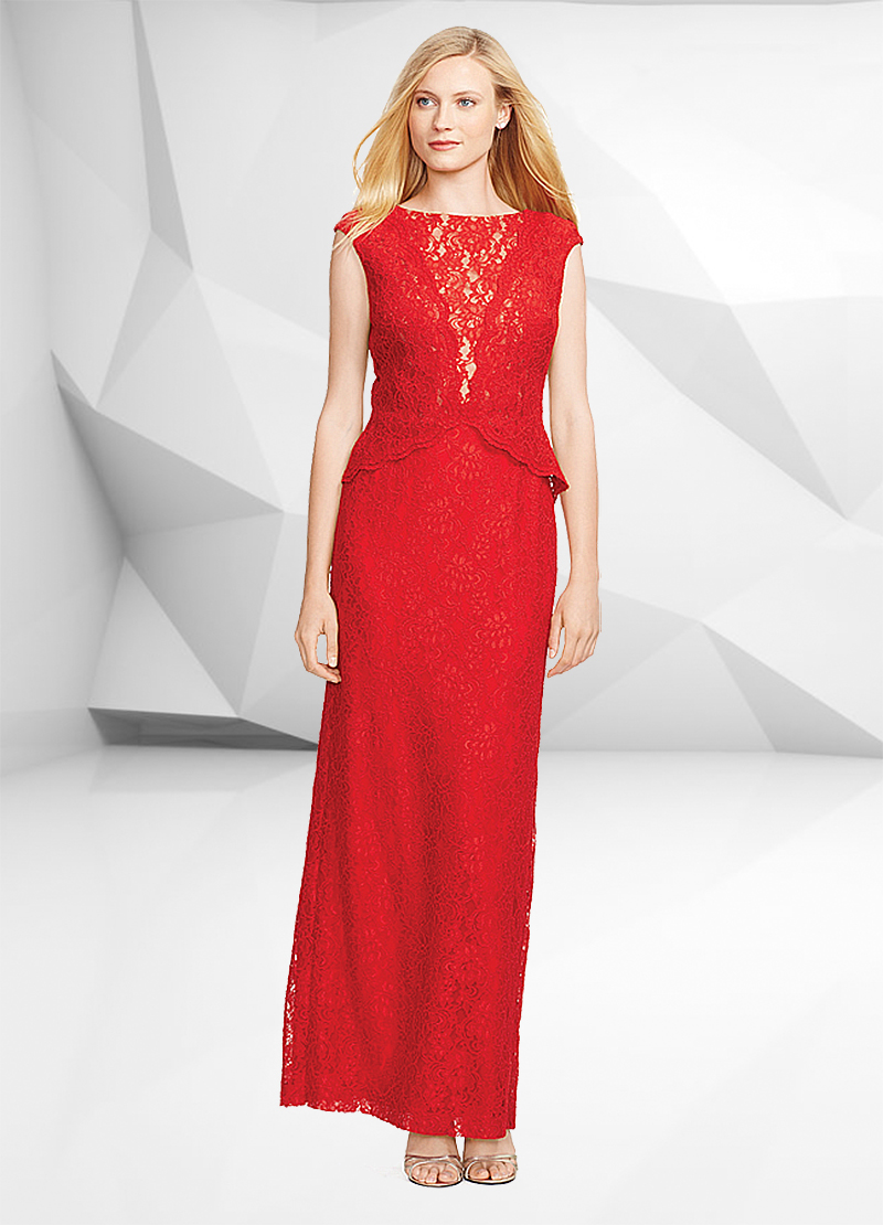 red lace dress macys friends and family sale