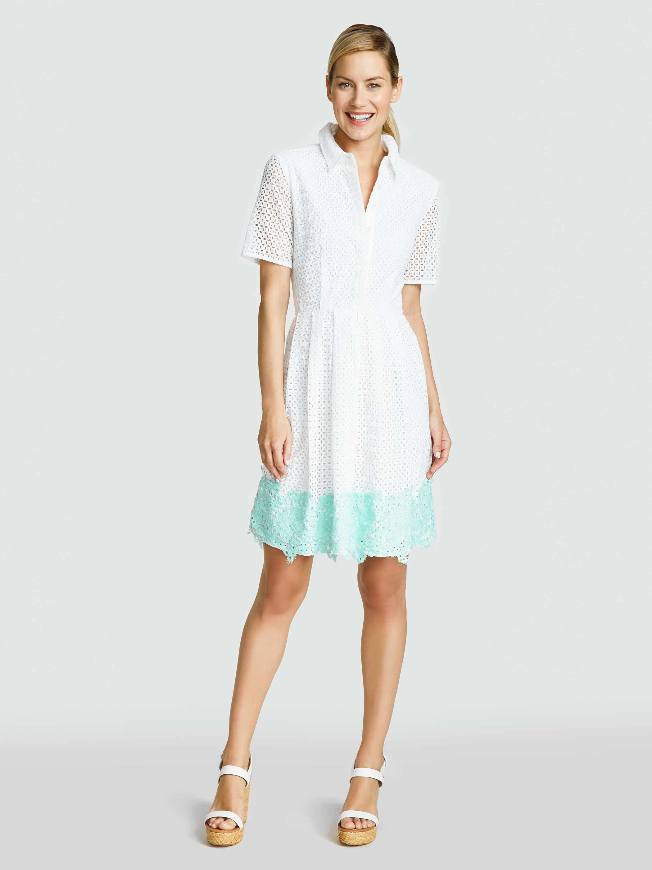 Draper James Emma Eyelet shirt dress