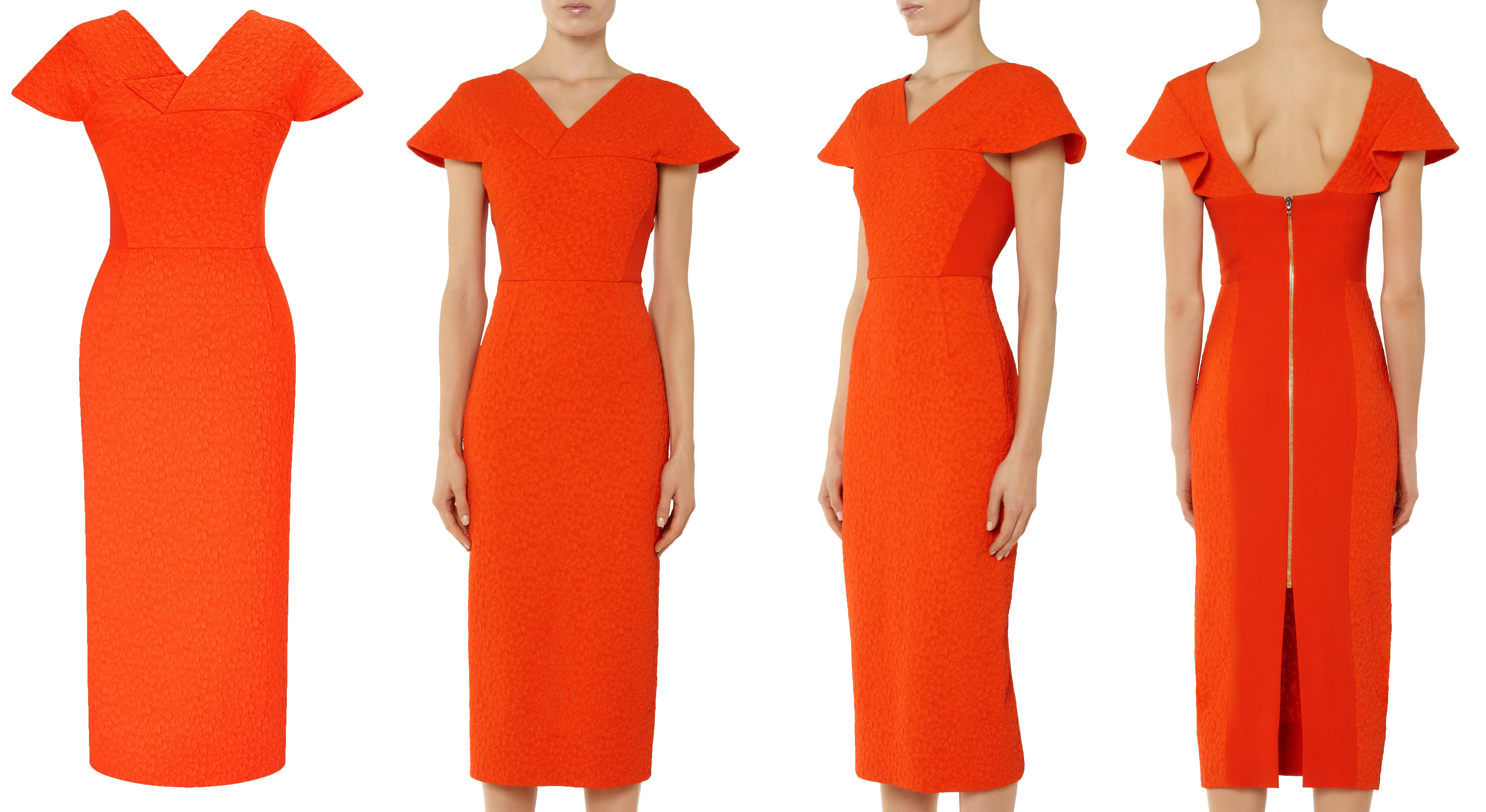 Roland Mouret Dunmore dress tomatoe red