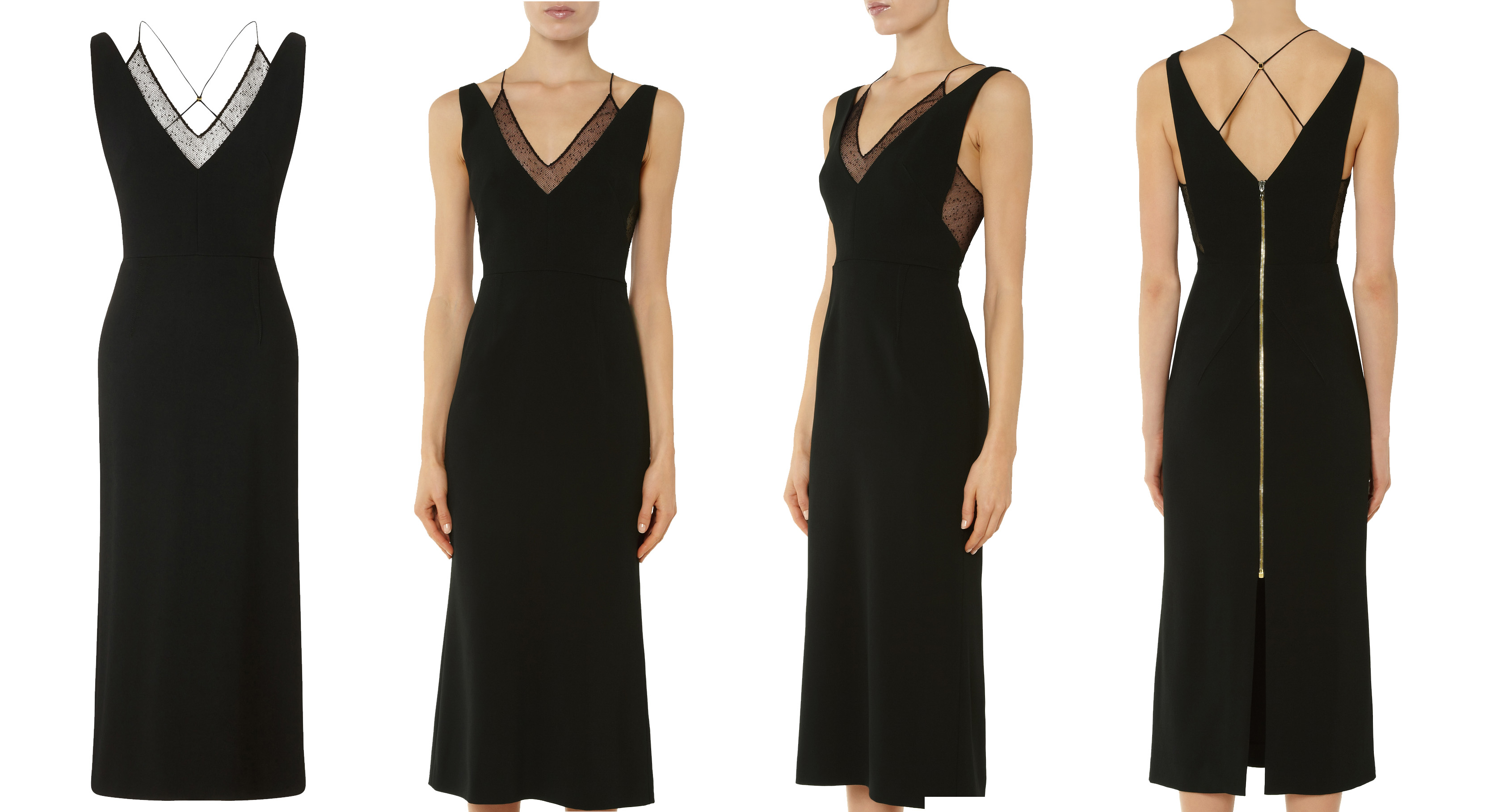 Roland Mouret Shannon dress in black