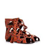 Giuseppe Zanotti Suede Embellished Lace-Up Gladiator Sandals