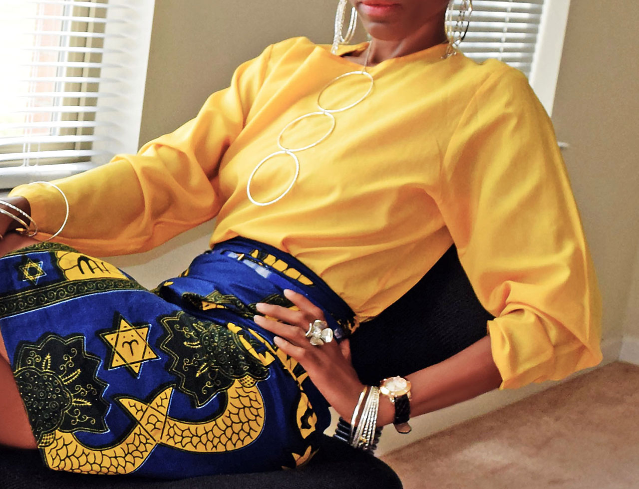 yellow top blue skirt silver accessories my fashion wants