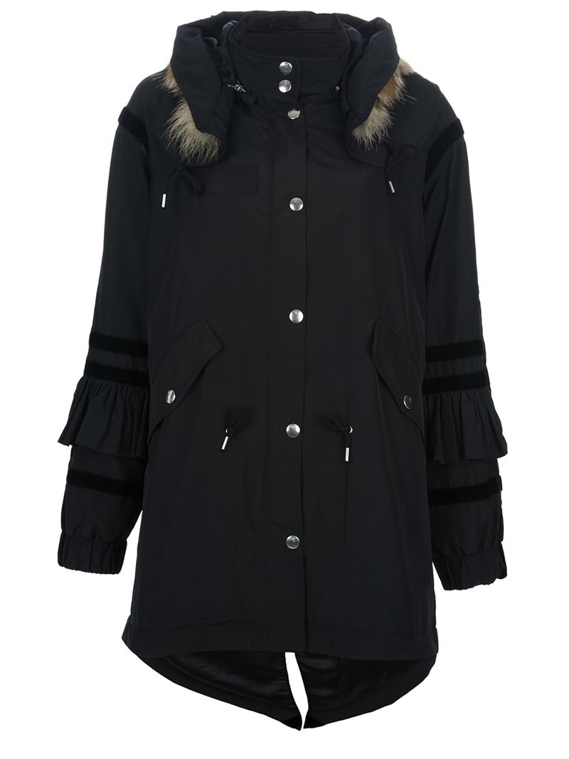 McQ By Alexander McQueen fur hooded parka