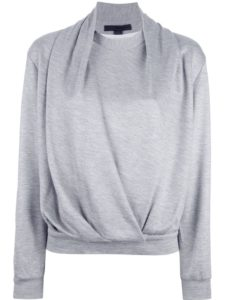 Alexander Wang draped neck sweatshirt