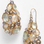Alexis Bittar 'Elements - Kiwi' Cluster Drop Earrings Gold/ Multi