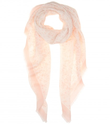 Balenciaga Wool And silk print scarf