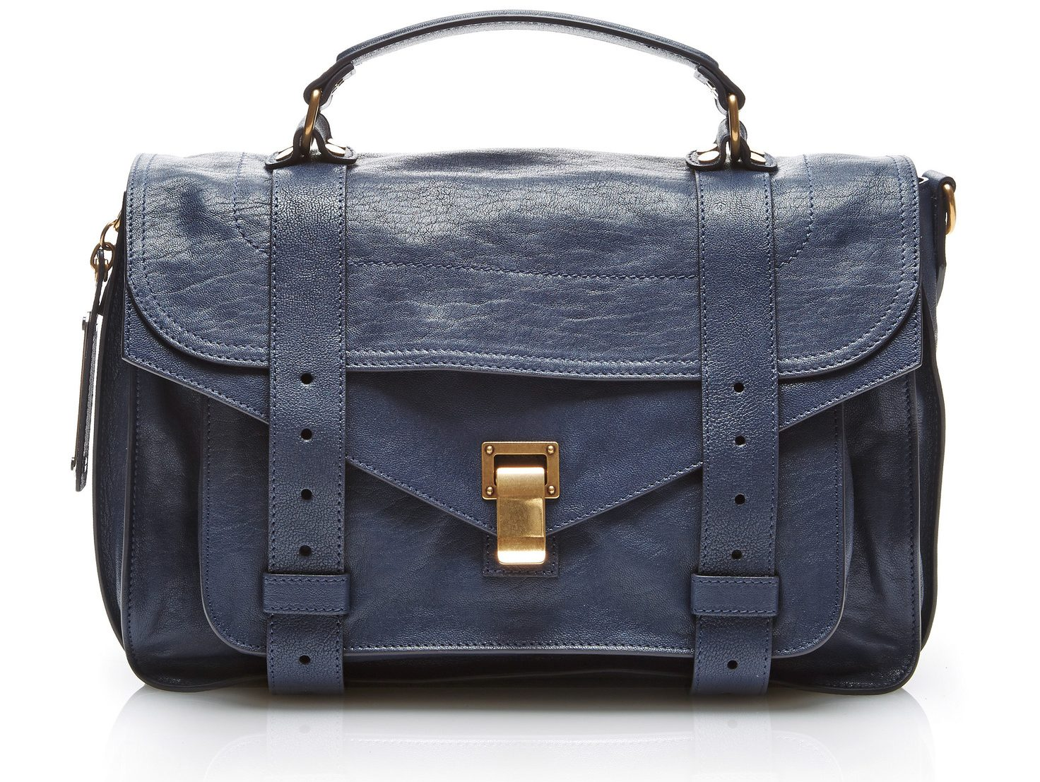 Proenza Schouler PS1 Medium Leather Satchel bag color midnight blue