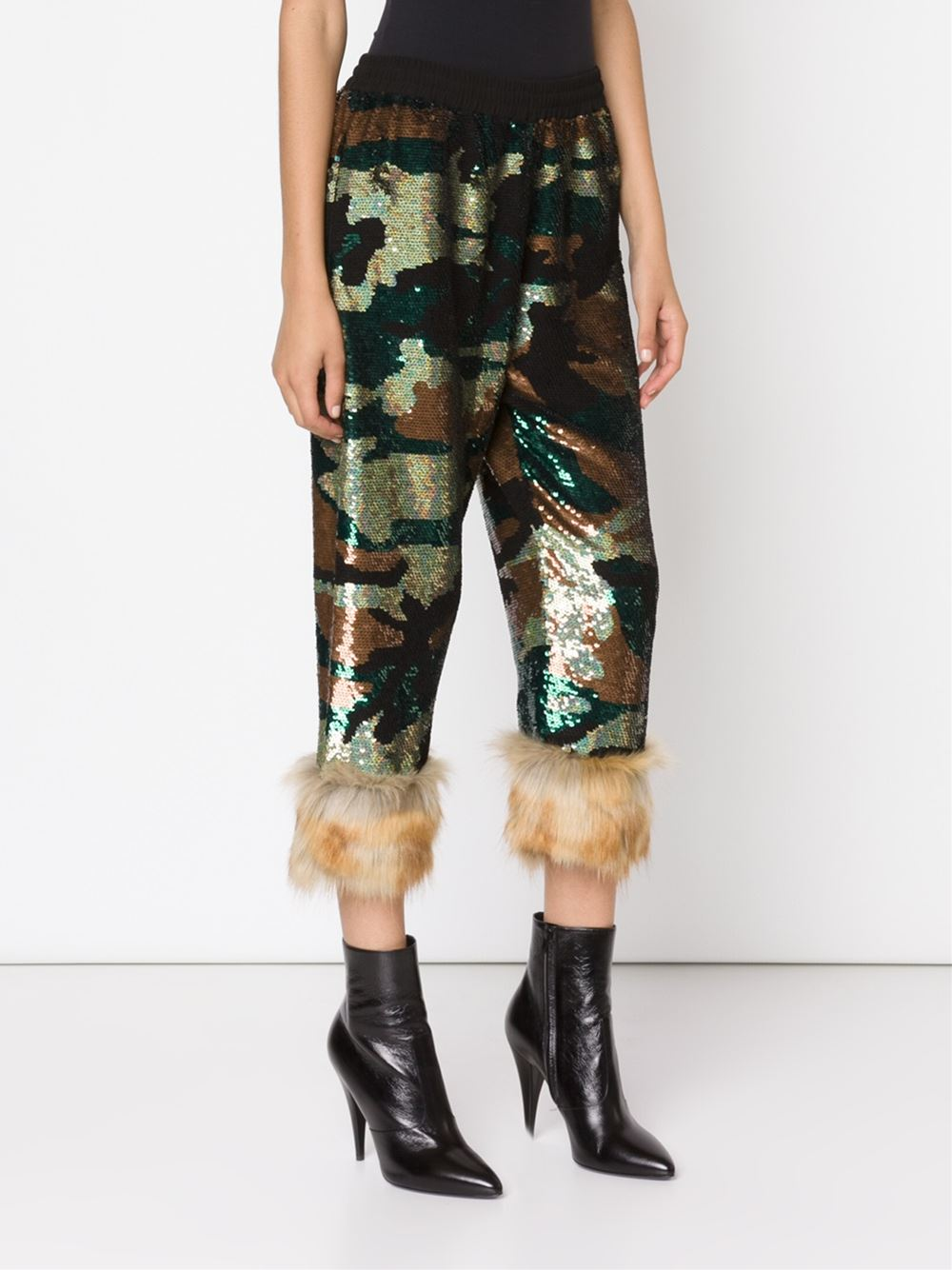 Ashish sequinned trousers camouflage