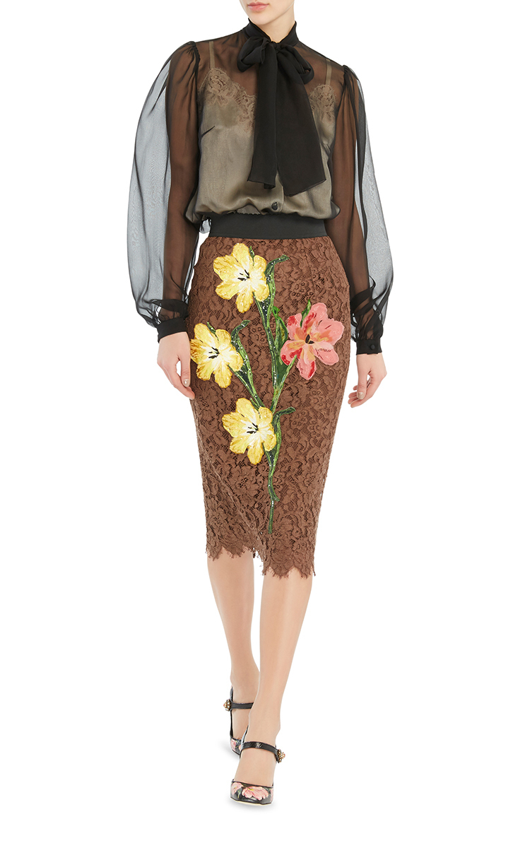 dolce-gabbana-lace-pencil-skirt-with-sheer-chiffon-blouse