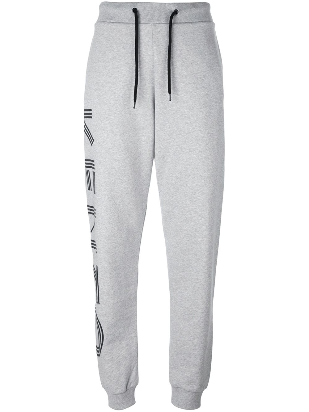 Kenzo logo print gray track pants