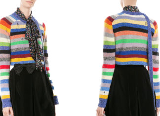 March Jacobs Stripe Cashmere Crewneck Sweater