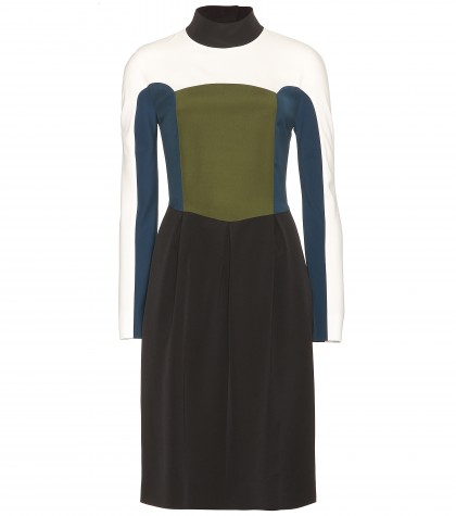 Fendi Colour-block Crepe Dress