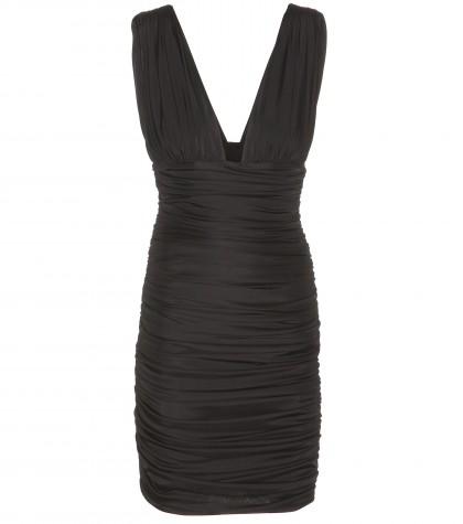 Balmain Ruched Satin-jersey Mini Dress