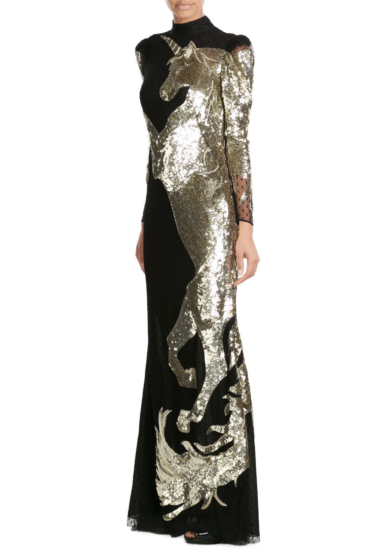 Alexander McQueen Embellished Floor Length Gown