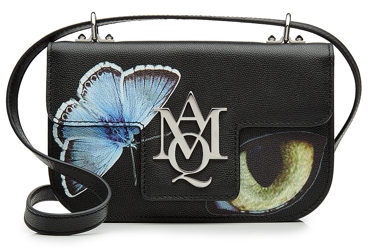 Alexander McQueen bags printed leather shoulder bag