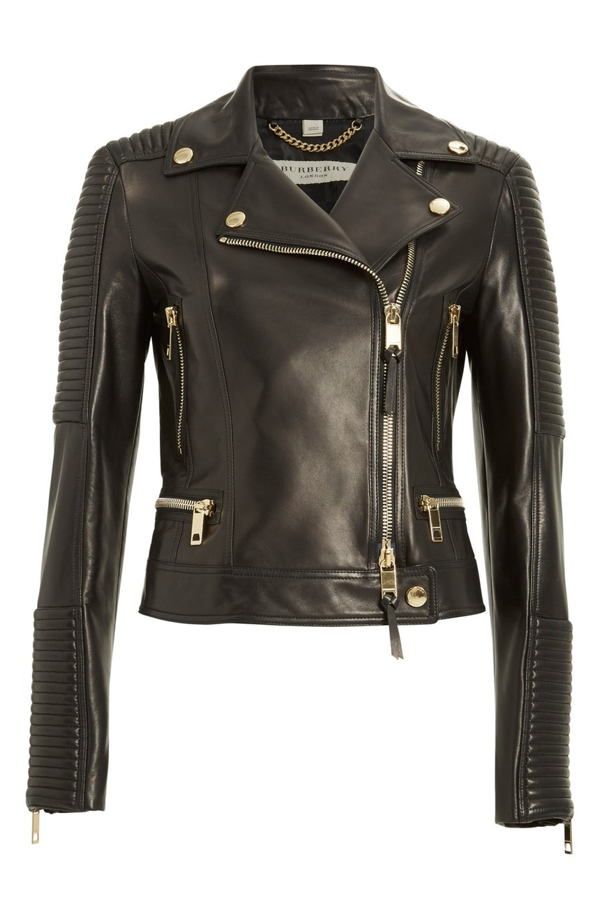 Burberry London 'Mossgrove' Leather Jacket
