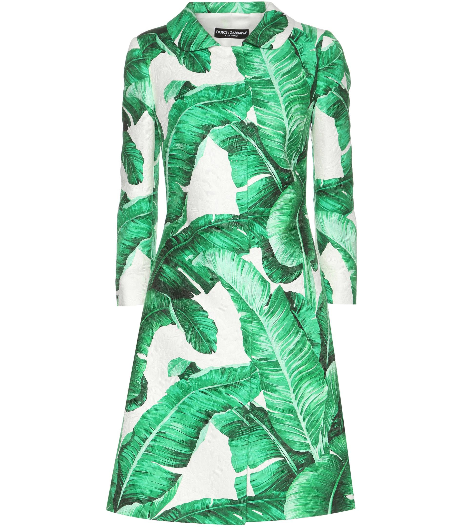 Dolce Gabbana Jacquard printed coat