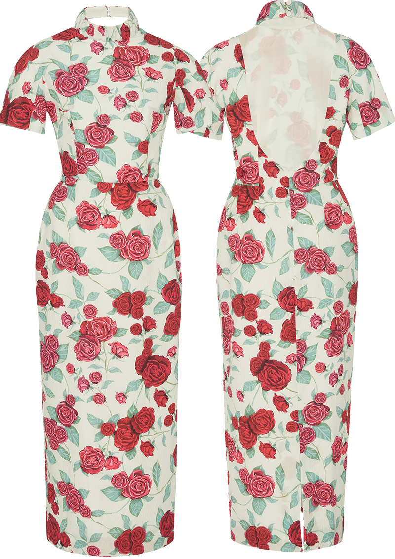 Emilia Wickstead Edith Floral Cocktail Dress