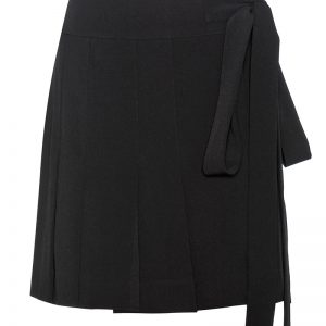 Marni black pleated wrap skirt